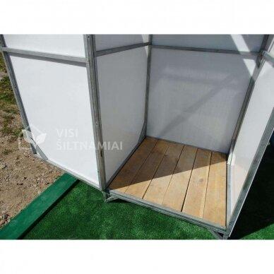 XL dydžio Lauko dušas (BALTAS) TVIRČIAUSIAS 3