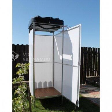 XL dydžio Lauko dušas (BALTAS) TVIRČIAUSIAS 2