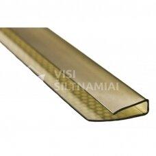 Užbaigimo profiliai 6mm storio polikarbonatui (BRONZA)