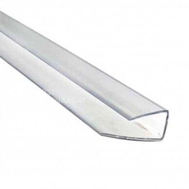 Užbaigimo profiliai 6mm storio polikarbonatui