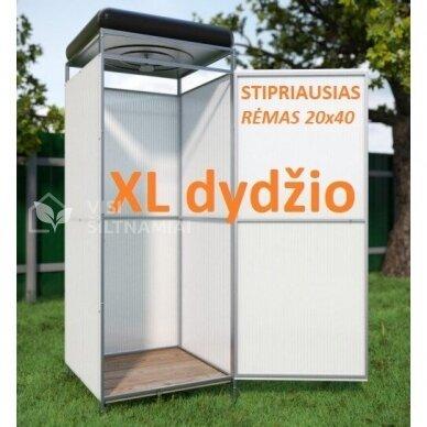 XL dydžio Lauko dušas (BALTAS) TVIRČIAUSIAS